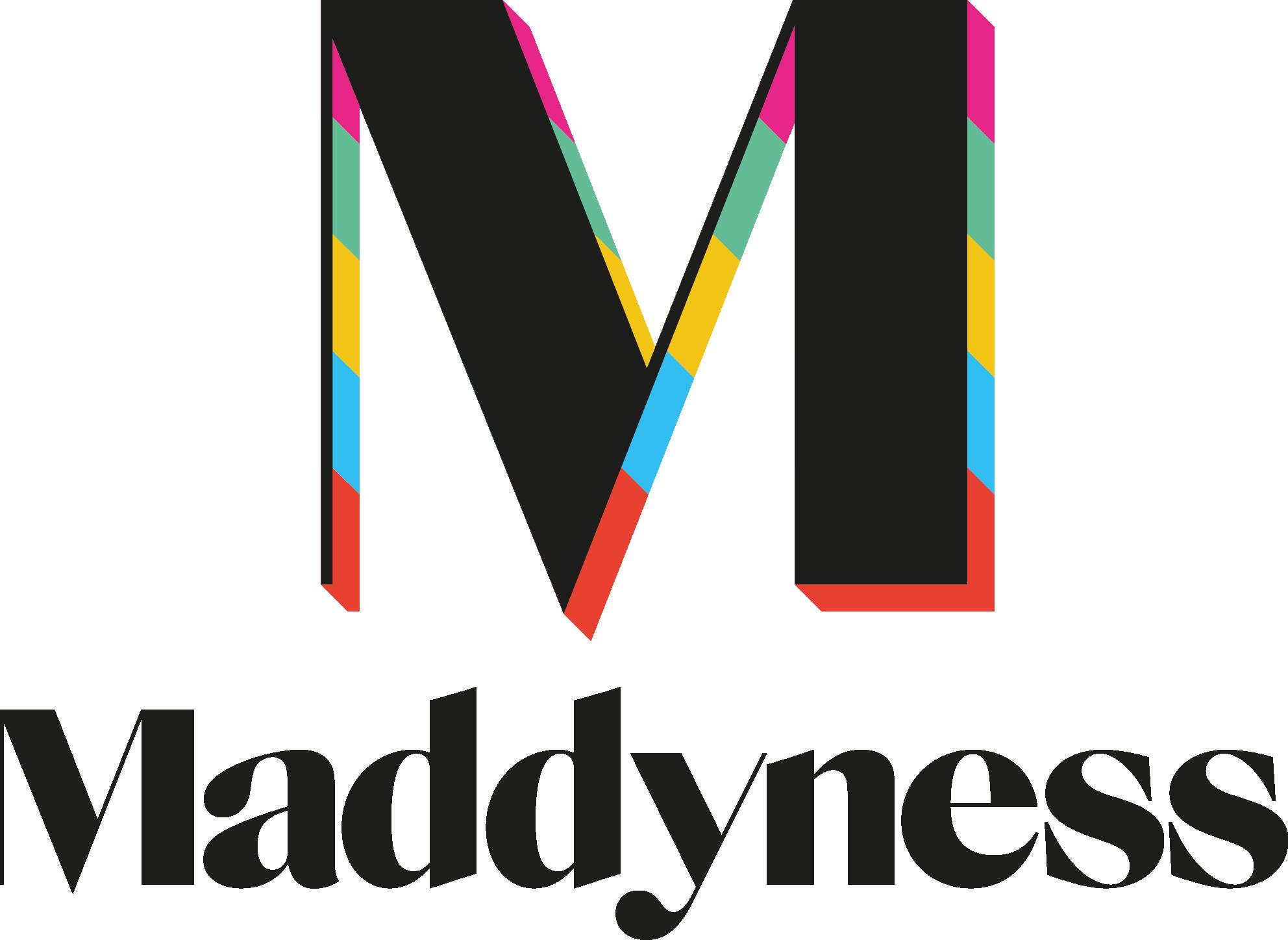 Logo maddyness noir hd